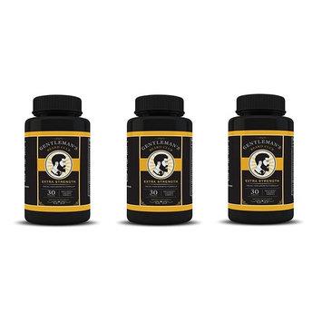 Gentleman's Beard Club Facial Hair Growth Formula Beard Growth Supplement Vitamin Grow a Fuller Thicker Beard 30 Tablets 3 Bottles