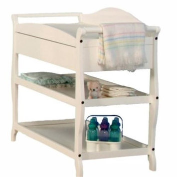 La Baby Sleigh Style Changing Table with Drawer White