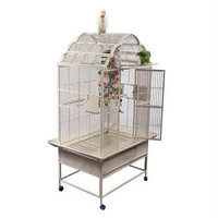 A & E Cage GC6-3223 White 32 X 23 In. Opening Victorian Top Cage
