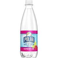 Polar Seltzer Water, Raspberry Lime, 20 Fl Oz, 24 Count