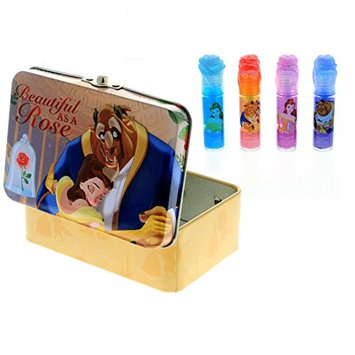 KidPlay Products Disney Belle Girls Lip Gloss and Tin 5pc Beauty and The Beast Cosmetic Set