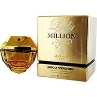 1 Million Absolutely Gold By Paco Rabanne For Women - 2.7 Oz Pure Perfume Spray