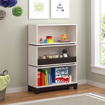 Altra Cosco Leni Storage Bookcase - White and Coffee House Plank