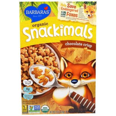 Barbaras Barbara's Bakery, Organic Snackimals Cereal, Chocolate Crisp, 9 oz (pack of 4)