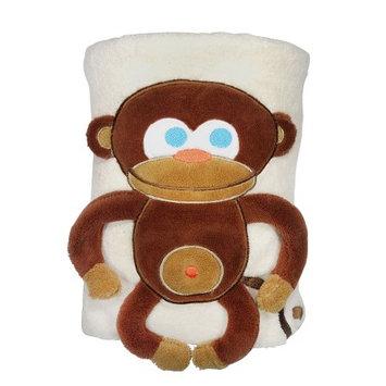 Sozo Monkey Snuggle Sherpa Blanket