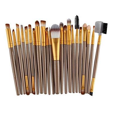 CMrtew 22 Pieces Makeup Brush Set Professional Face Eyeliner Blush Contour Foundation Cosmetic Brushes for Powder Liquid Cream (G