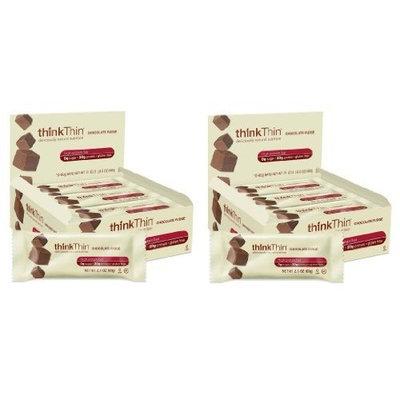 thinkThin Chocolate Fudge 60g bars (Pack of 10) , 2 Pack