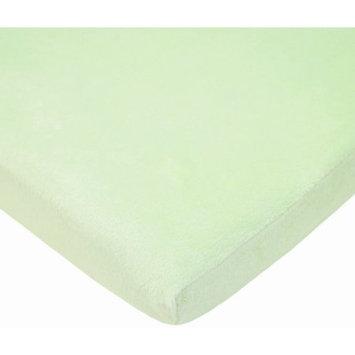 Tl Care Inc TL Care Heavenly Soft Chenille Bassinet Sheet, Celery