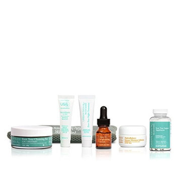 Urban Skin Rx Dark Spot Essentials Travel Kit with All In One Supplements for Correcting Uneven Skin Tone