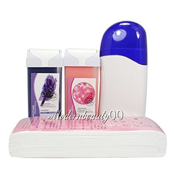 Baisidai Rose & Lavender Roll-On Refill Depilatory Heater Wax Waxing Paper Hair Removal Strips Rose Set