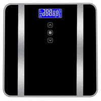 Huikai Digital Bath Body Fat Scales, Highly Accurate Digital Bathroom Body Fat Scale for Body Weight, Fat Rate, Water, BMI, BMR, Muscle Mass,Calories 400 pounds