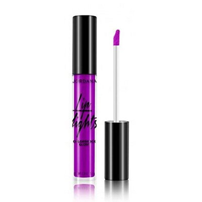(3 Pack) JORDANA Lip Lights Colorshock Gloss Purple Pop : Beauty