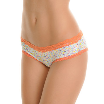 Angelina Cotton Bikini Panties with Floral Print Design (6-Pack)