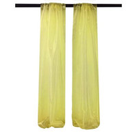 LA Linen DBOrganza58x96-Pk2-LightYellowO99 Mirror Organza Backdrop Light Yellow - 58 x 96 in. - Pack of 2