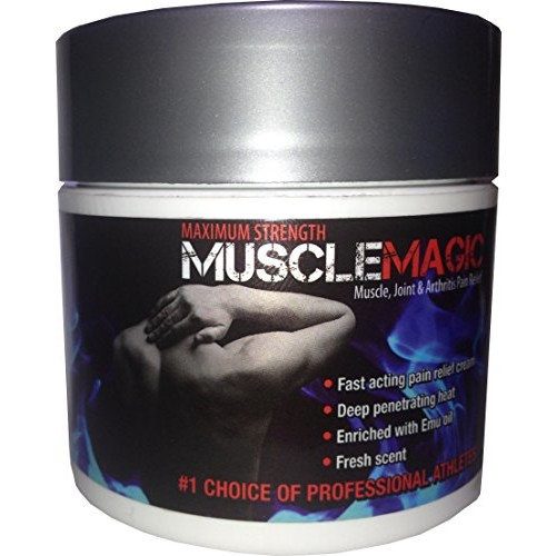 MuscleMagic Maximum Strength Pain Relief Cream, Fast Acting Joint, Muscle, Back Ache and Arthritis Pain Treatment, 4 oz.