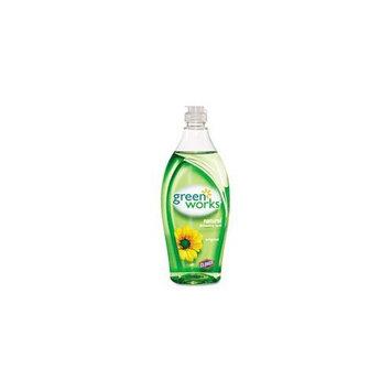 Green Works 30172 Natural Dishwashing Liquid, 22 fl oz Bottle, Free and Clear