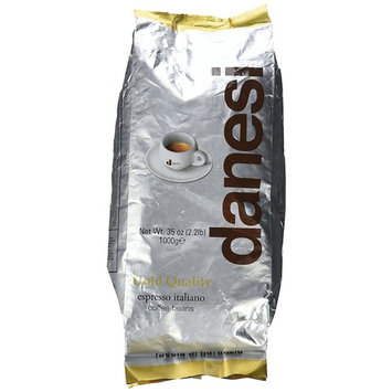 Danesi Gold Quality Beans 2.2 lbs bag Espresso Coffee Beans from Italy (1 x 2.2 lbs)
