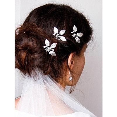 Kercisbeauty Wedding Crystal Hair Accessories Wedding Hair Pins Wedding Hairpiece Bridal Crystal Hair Pins Gift Wedding Hair Accessories (Set of 3)