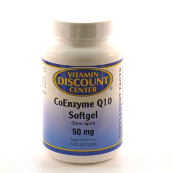 Coenzyme Q10 50mg by Vitamin Discount Center - 120 Softgels COQ10