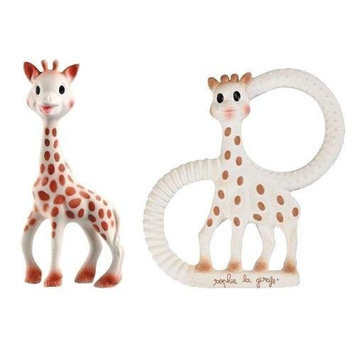 Vulli Sophie The Giraffe Teether Toy Set - (Includes The Original Sophie + New Sophie The Giraffe Vanilla Teething Ring)