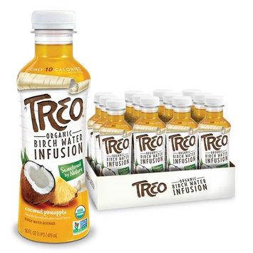 Organic Treo - Fruit and Birch Water Drink, Coconut Pineapple, 16 Fl oz.
