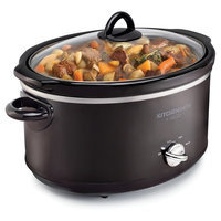 Kitchen Smith by Bella 6QT Manual Slow Cooker, Black