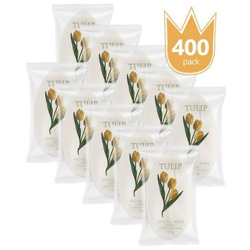 TULIP 400 Count Travel / Spa Facial Body Soap 0.7 Ounce Hotel Size In Bulk Individually Wrapped Scented With A Fresh Fragrance