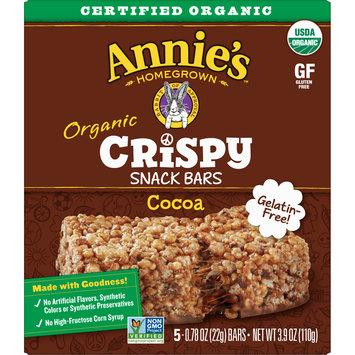 Annie's Organic, Gluten Free, Cocoa Crispy Snack Bars, 3.9 oz