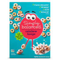 Rainbow Hoops Cereal 10 oz - Simply Balanced