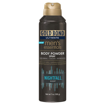Gold Bond Ultimate Men's Essentials Body Powder Spray Nightfall - 7 oz
