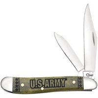Case Cutlery CA15004 Peanut Olive Green U.S. Army Folding Knife Pocket Folder
