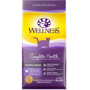 Wellness Complete Health™ Healthy Weight Healthy Weight: Deboned Chicken, Chicken Meal & Turkey Meal Dry Cat Food