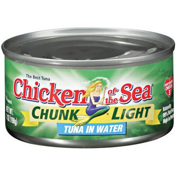 Chicken of the Sea Chunk Light, Tuna in Water, 7 Ounce (Pack of 8)