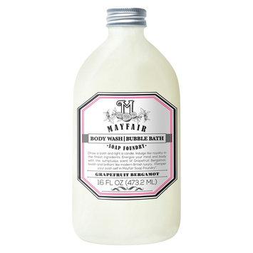Mayfair Soap Foundry grapefruit bergamot body wash/bubble bath - 16 oz