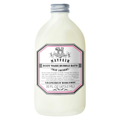 Mayfair Soap Foundry grapefruit bergamot body wash/bubble bath - 16 oz