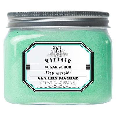 Mayfair Soap Foundry sea lily jasmine sugar scrub 20 oz