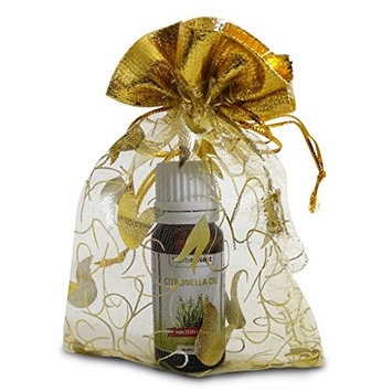 Citronella Essential Oil with FREE Organza Gift Bag - Undiluted, Pure, Therapeutic Grade, Premium Quality Aromatherapy Essential Oil - 10 ml …