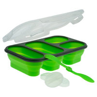SmartPlanet Portion Perfect 4 Compartment Collapsible Green Meal Kit