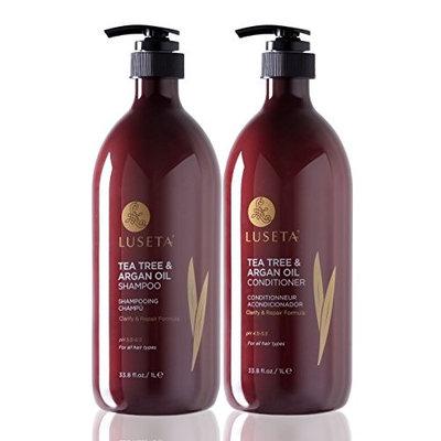 Luseta Tea Tree & Argan Oil Shampoo & Conditioner Set 2x33.8oz
