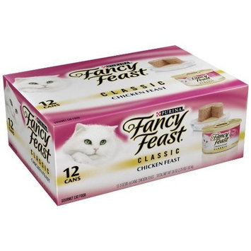 Purina Fancy Feast Classic Pate Chicken Feast Wet Cat Food - (2 Packs of 12) 3 oz. Cans