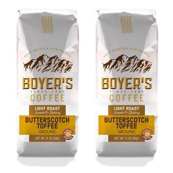 Luna Gourmet Coffee & Tea Co, Llc Butterscotch Toffee, Ground, Flavored Coffee, 2-Pack (1.5lb)