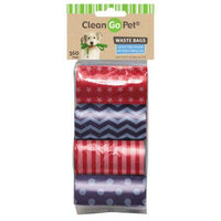 Clean Go Pet Waste Bags 8 Roll Stars & Stripes