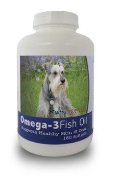 Healthy Breeds 840235141716 Miniature Schnauzer Omega-3 Fish Oil Softgels 180 Count