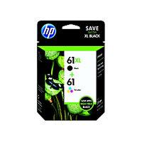 HP 61XL/61 Original Ink Cartridge - Black, Tri-color - Inkjet - High/Standard Yield - 480 Pages Black, 165 Pages Tri-color - 2 / Pack