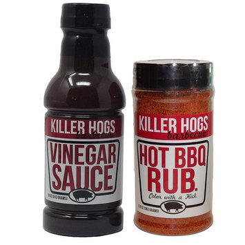 Killer Hogs Combo - BBQ Rub (12 oz) and BBQ Vinegar Sauce (18 fl oz) (Hot Rub)