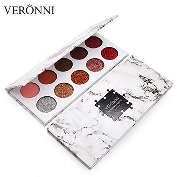 VERONNI Glitter Eyeshadow 10colors Waterproof Pigment and Matte Eyeshadow(Pack of 24)