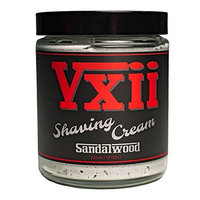 V12 Lifestyle Shaving Cream, Special Blend of Activated Charcoal, Meadowfoam Seed Oil, and Vitamin E to Invigorate and lift hair for an incredibly Close Shave, Prevent Irritation and Ingrowns, 11 oz [Sandalwood]