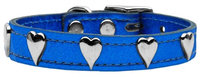 Mirage Pet Products 8314 26BLM Metallic Heart Leather Blue MTL 26