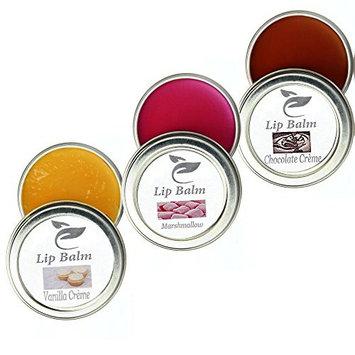 Ehsantial Organic Moroccan Argan Oil Lip Balm, 3pc Set (Chocolate, Vanilla, Marshmallow)