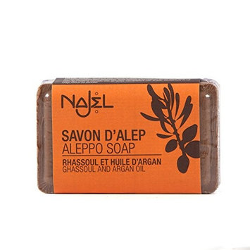 Najel Aleppo Soap Rhassoul and Argan Oil - 100g by Najel